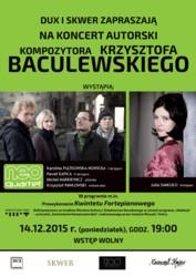 Koncert autorski Krzysztofa Baculewskiego
