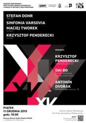 Sinfonia Varsovia z okazji 15-lecia Instytutu Adama Mickiewicza
